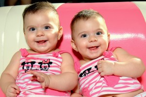 a set of girl twins