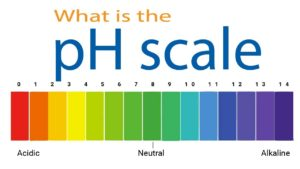 colored pH scale